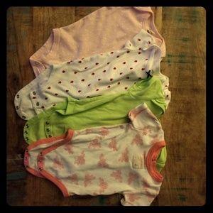 Girls 4pc 6M onesie set